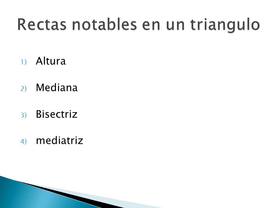 Rectas notables en un triangulo