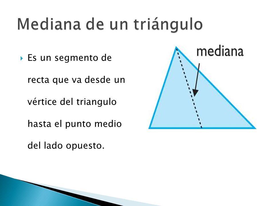 Mediana de un triángulo