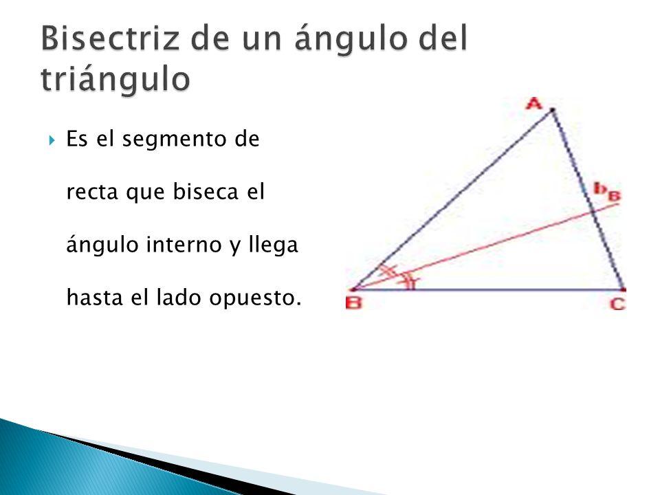 Bisectriz de un ángulo del triángulo