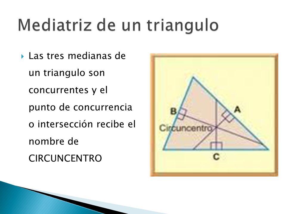 Mediatriz de un triangulo
