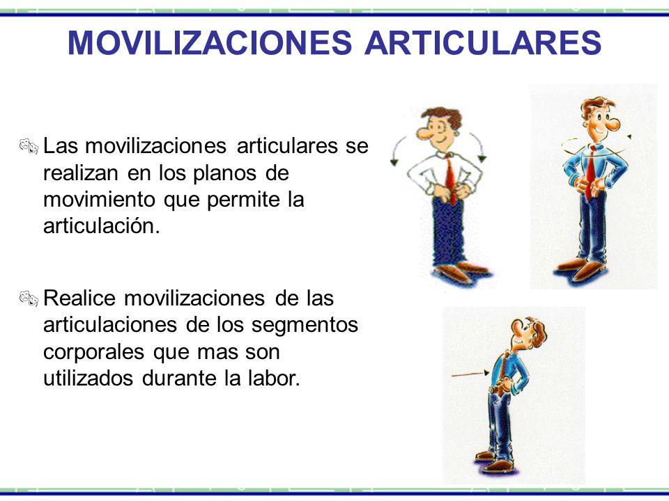 MOVILIZACIONES ARTICULARES