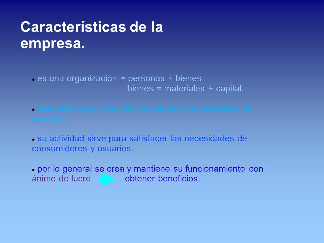Características de la empresa.