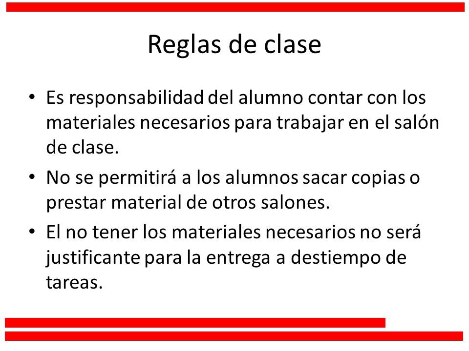 Taller de lectura y redacci n i ppt video online descargar for 10 reglas del salon de clases