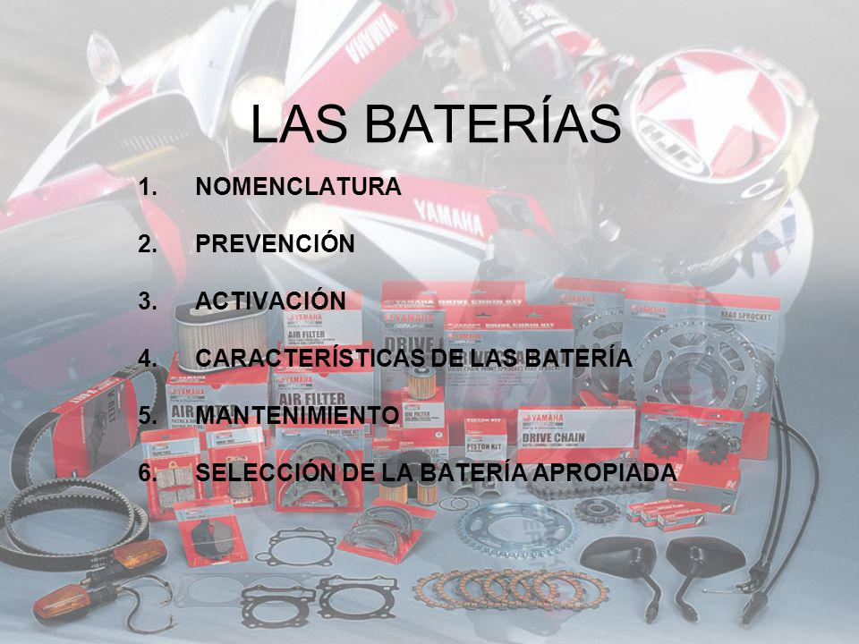 LAS BATERÍAS NOMENCLATURA PREVENCIÓN ACTIVACIÓN