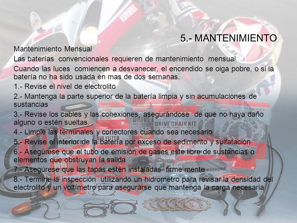 5.- MANTENIMIENTO Mantenimiento Mensual