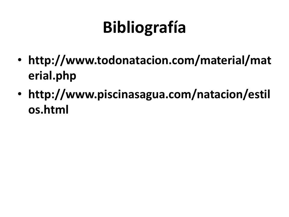 Bibliografía http://www.todonatacion.com/material/material.php