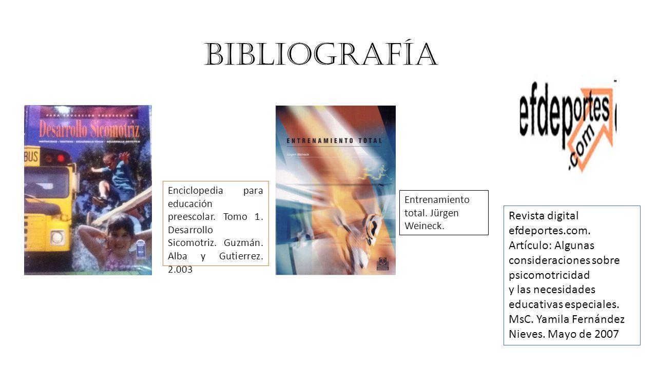BIBLIOGRAFÍA Revista digital efdeportes.com.