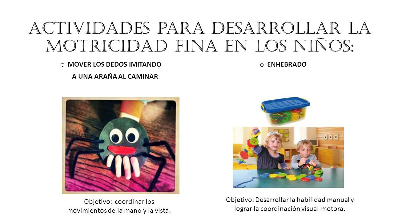 Actividades para desarrollar la motricidad fina en los niños: