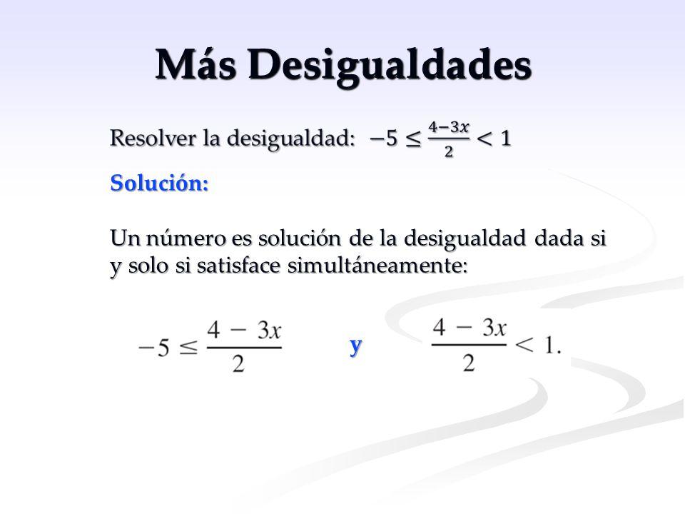 Más Desigualdades Solución: