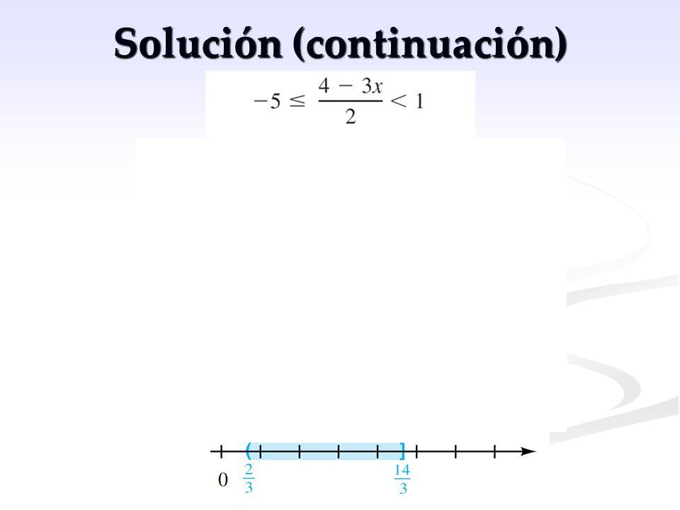 Solución (continuación)