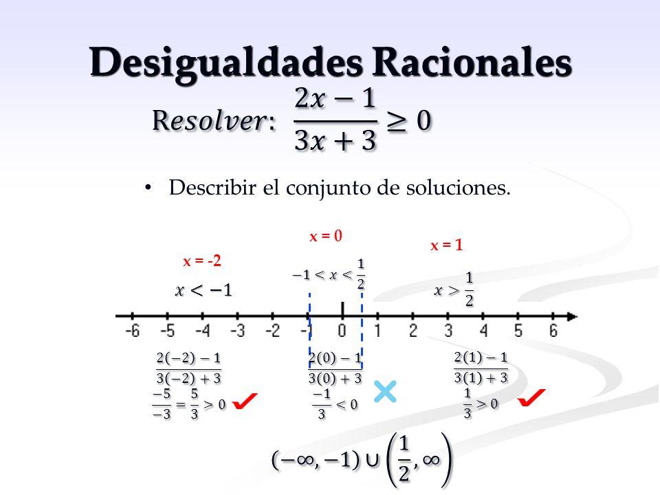 Desigualdades Racionales