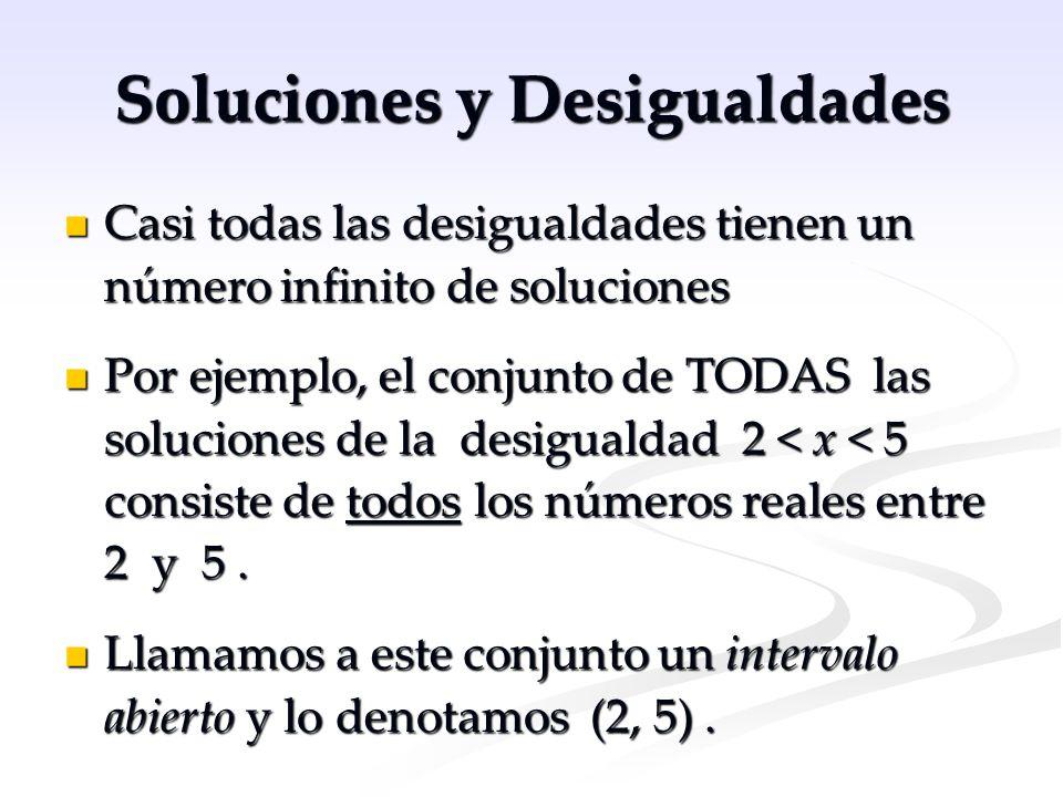 Soluciones y Desigualdades