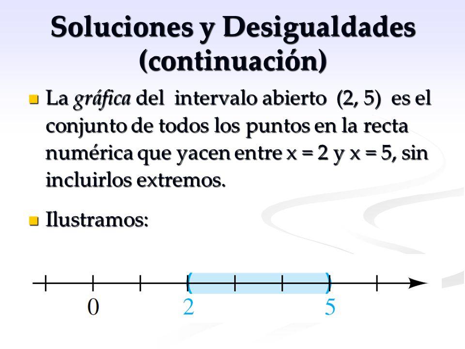 Soluciones y Desigualdades (continuación)