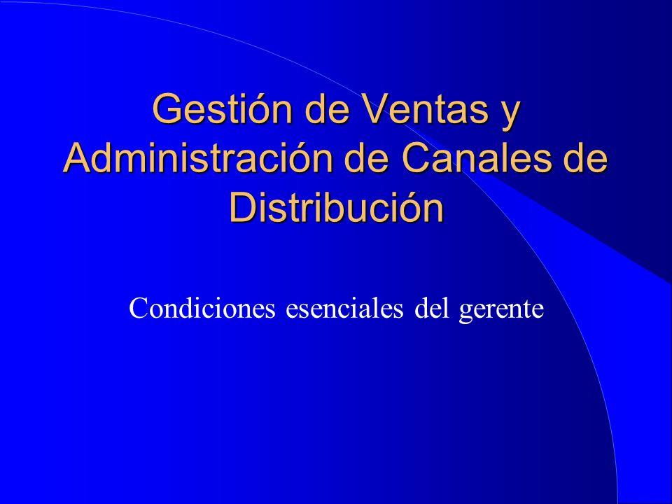 Gestión de Ventas y Administración de Canales de Distribución
