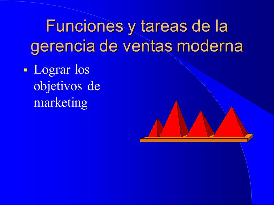 Funciones y tareas de la gerencia de ventas moderna