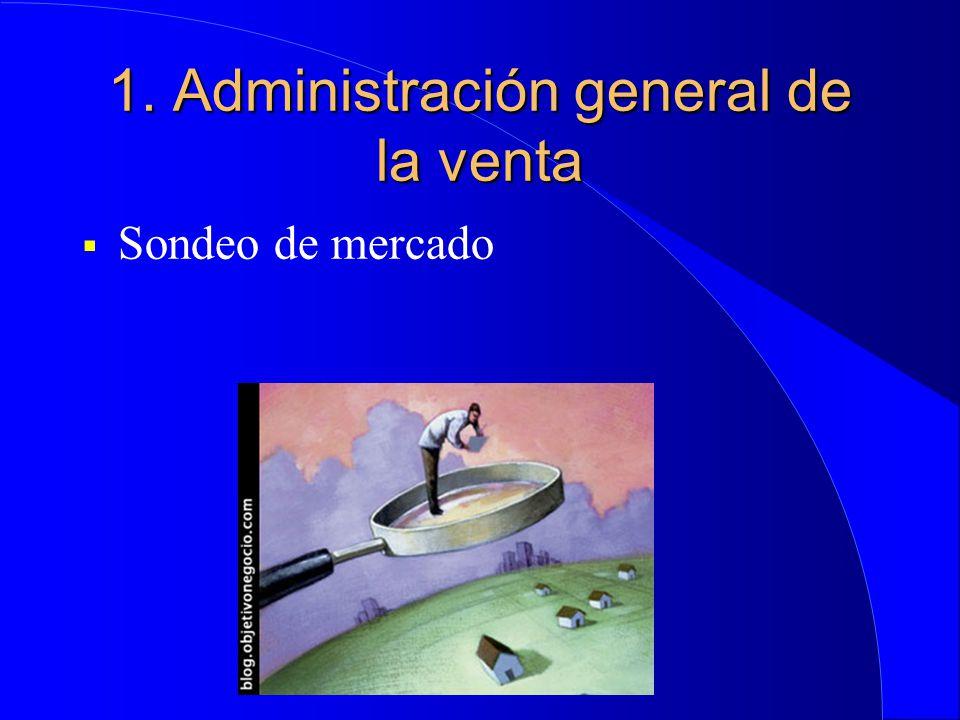 1. Administración general de la venta