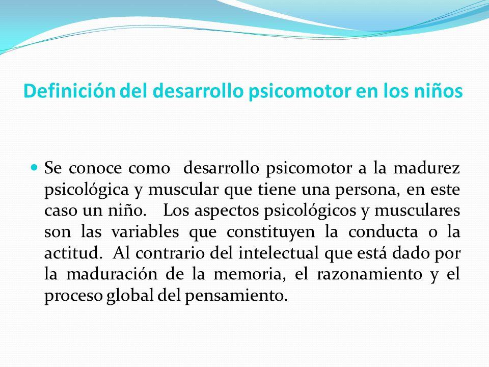 Definición del desarrollo psicomotor en los niños