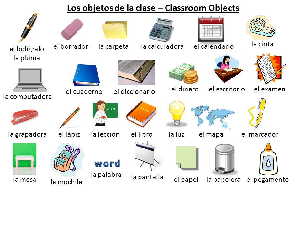 Los objetos de la clase classroom objects ppt video for 10 objetos del salon de clases en ingles