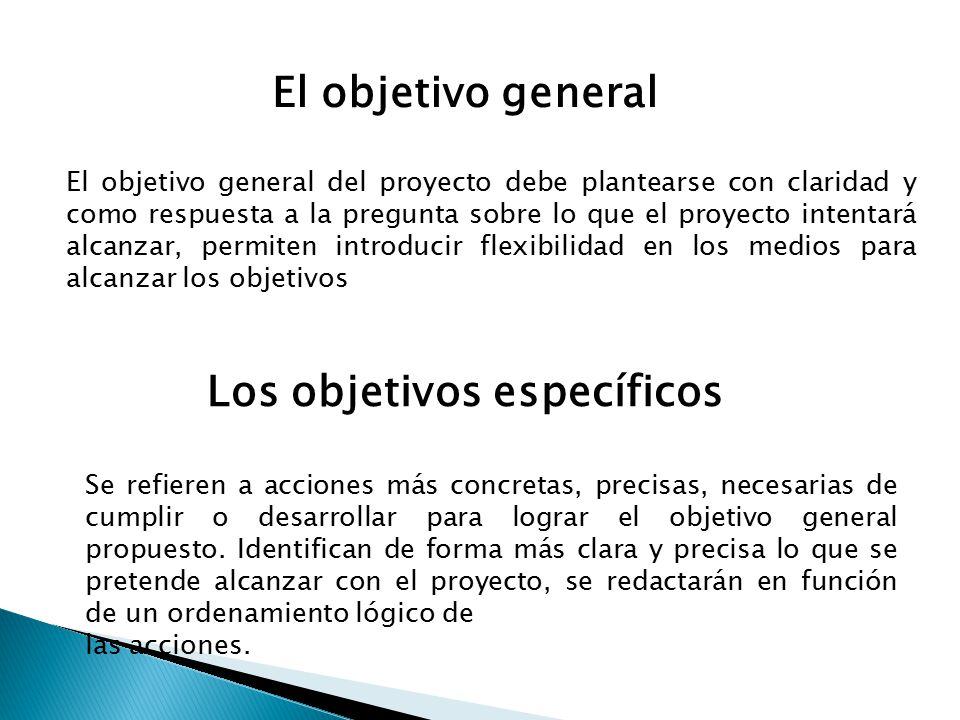 Objetivo general y espec ficos ppt video online descargar for Objetivo general de un vivero
