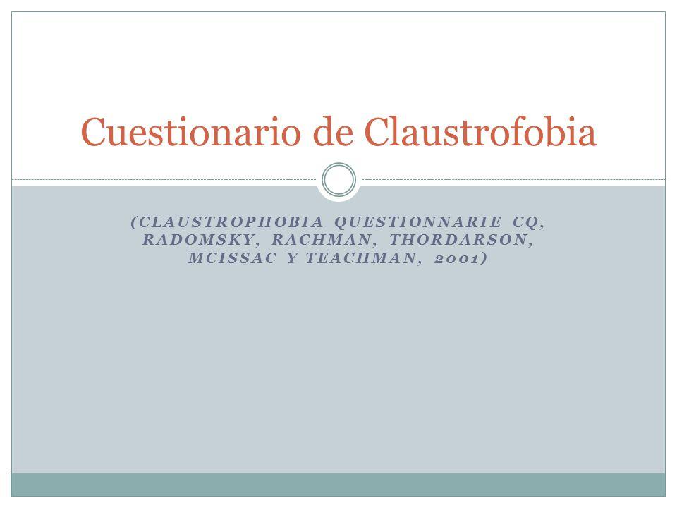 Cuestionario de Claustrofobia