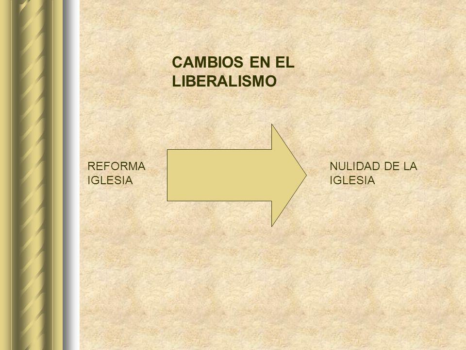 CAMBIOS EN EL LIBERALISMO