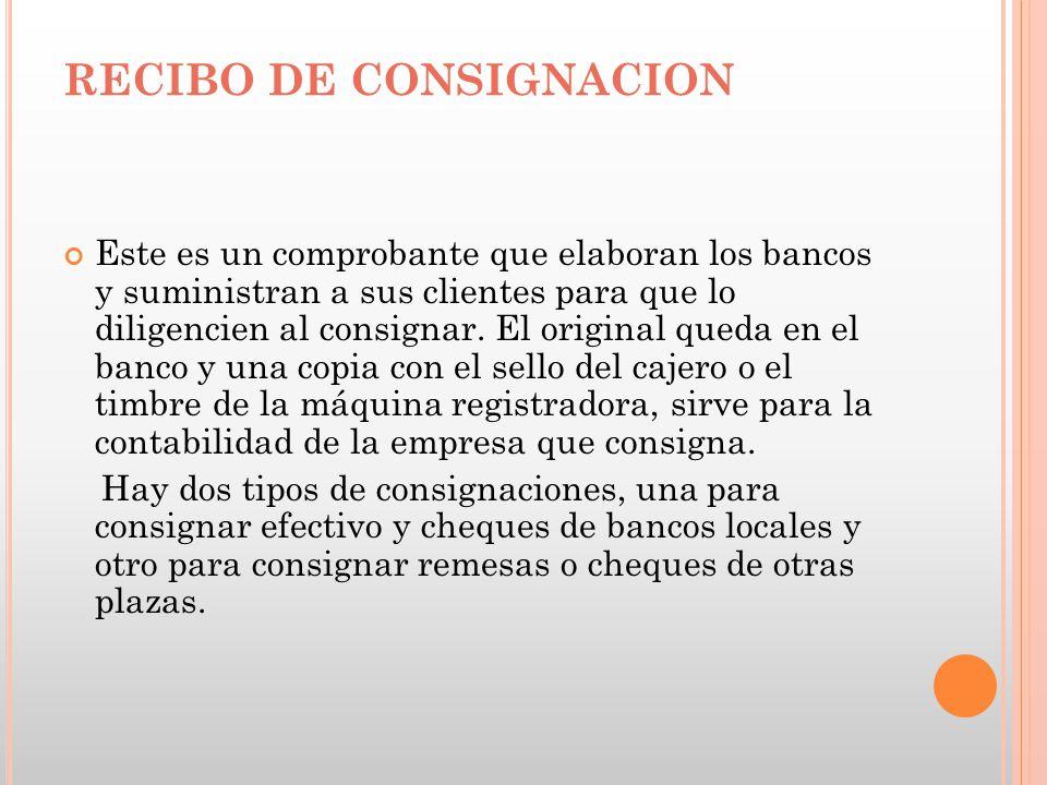 RECIBO DE CONSIGNACION