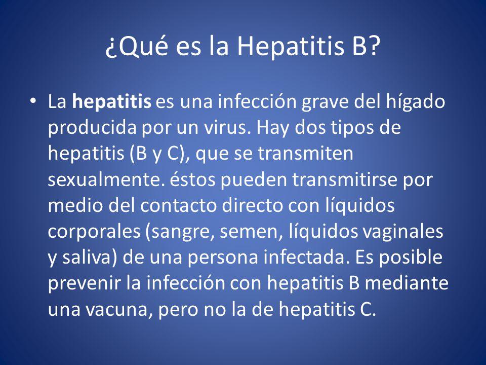 ¿Qué es la Hepatitis B