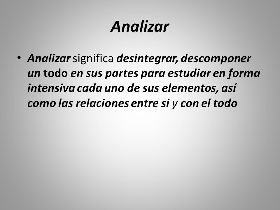 Analizar