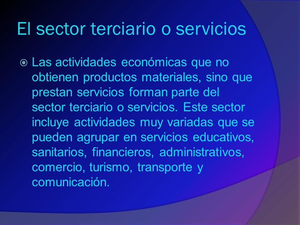 El sector terciario o servicios