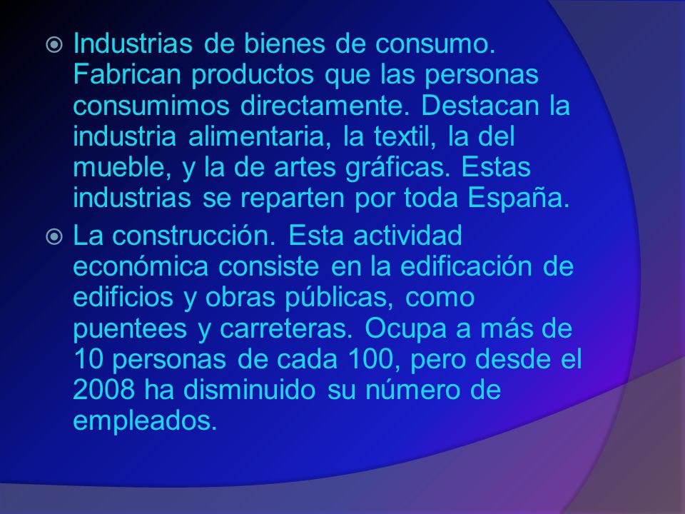 Industrias de bienes de consumo