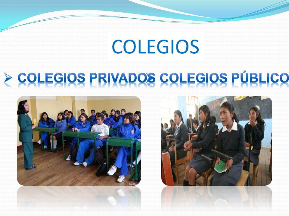COLEGIOS COLEGIOS PRIVADOS COLEGIOS PÚBLICO
