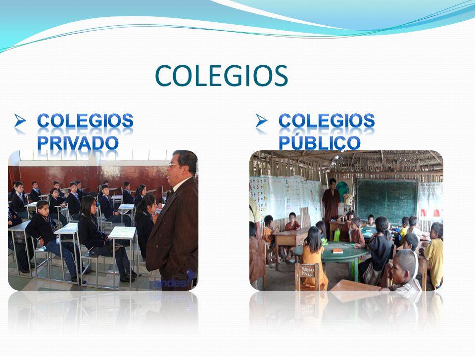 COLEGIOS COLEGIOS PRIVADO COLEGIOS PÚBLICO