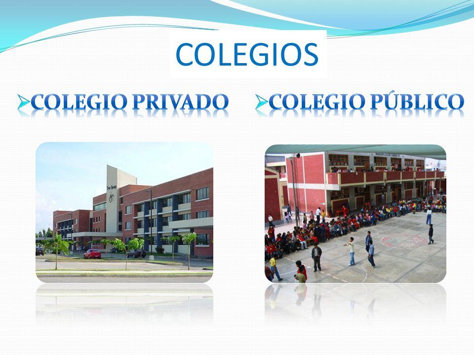 COLEGIOS COLEGIO PRIVADO COLEGIO Público