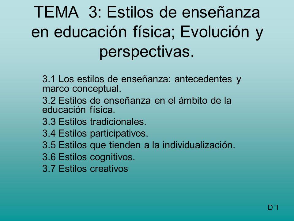 3.1 Los estilos de enseñanza: antecedentes y marco conceptual. - ppt ...
