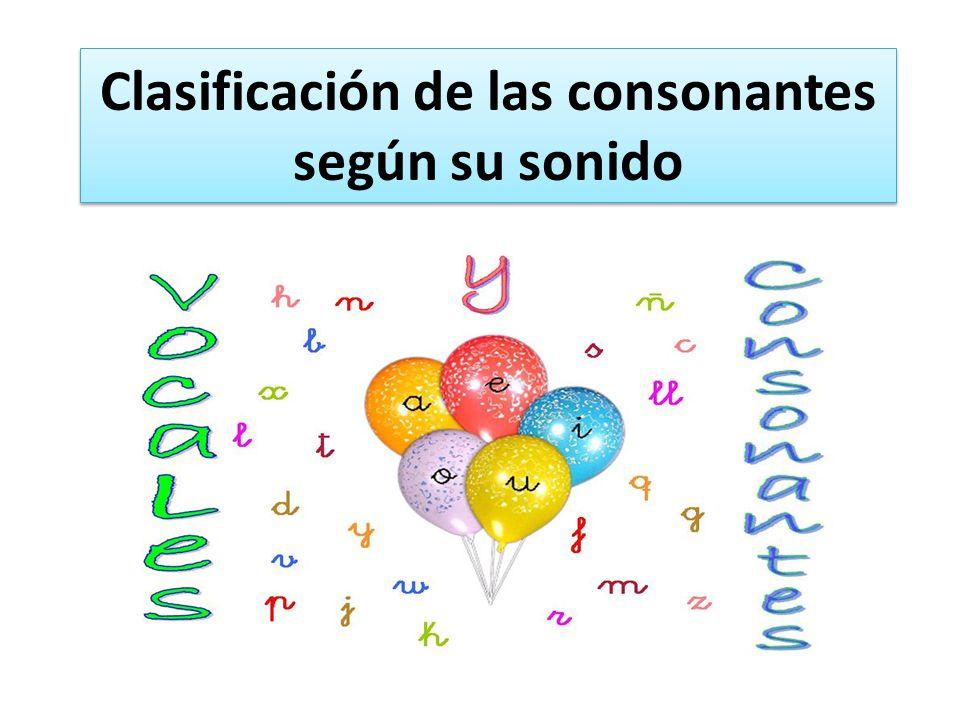 Clasificación de las consonantes según su sonido