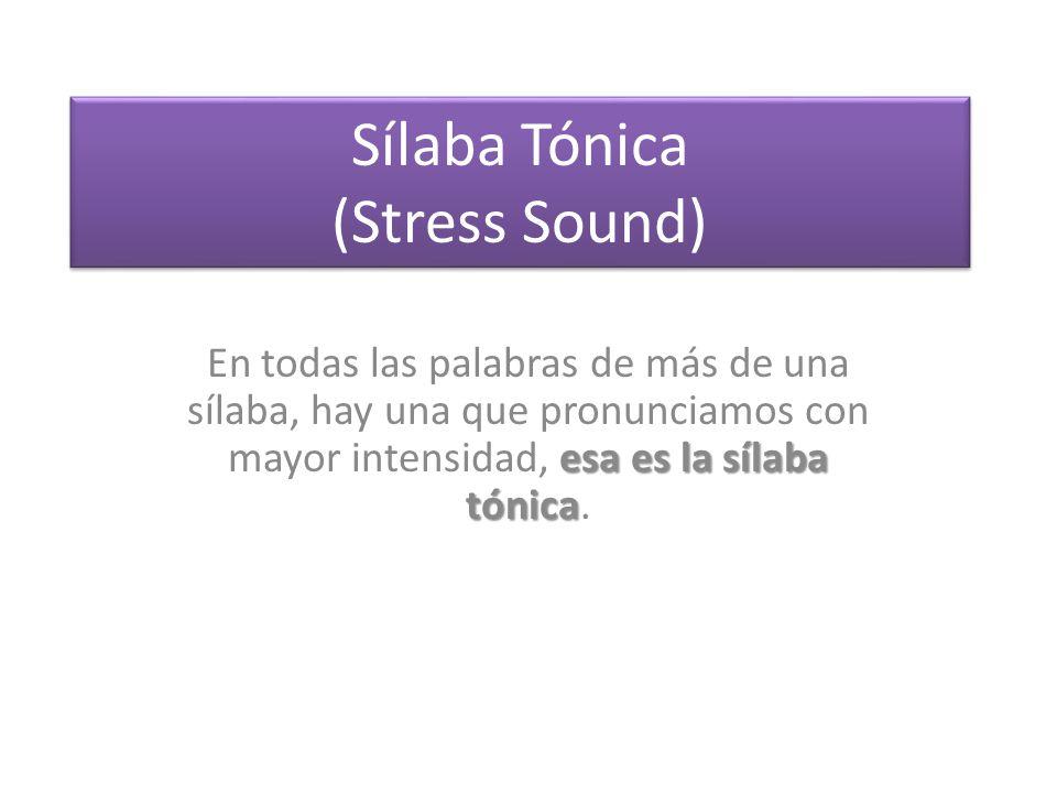 Sílaba Tónica (Stress Sound)
