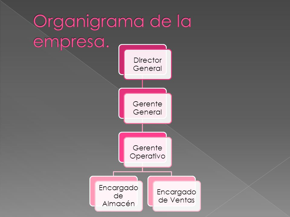 Organigrama de la empresa.