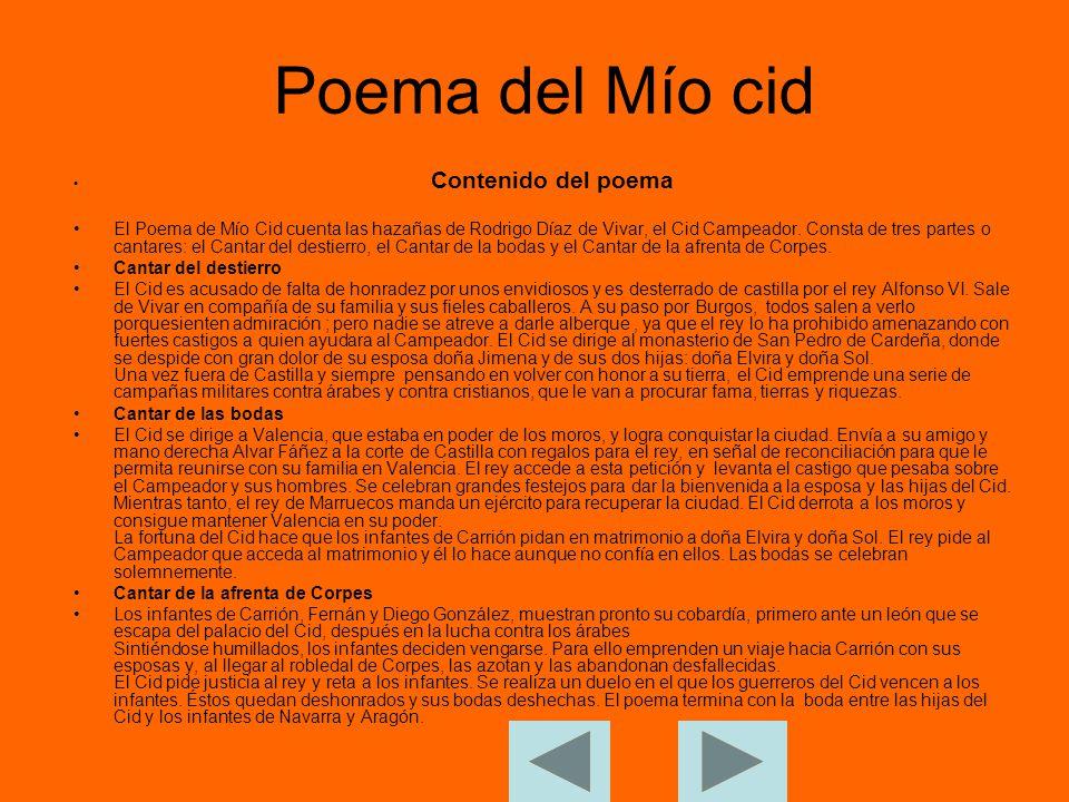 Poema Mio Cid Cantar Primero Resumen