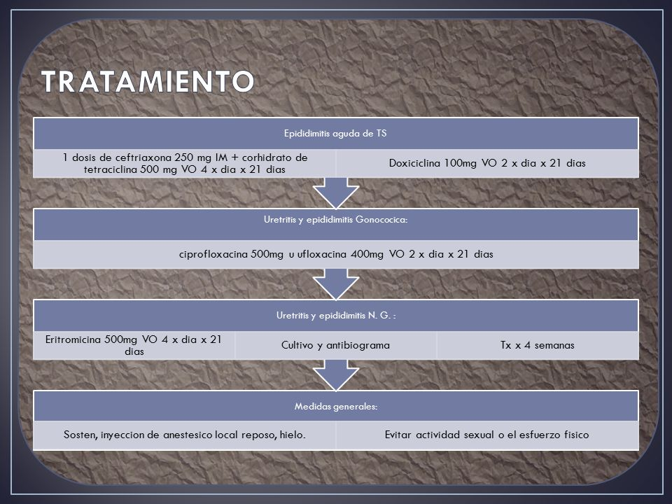 TRATAMIENTO Epididimitis aguda de TS