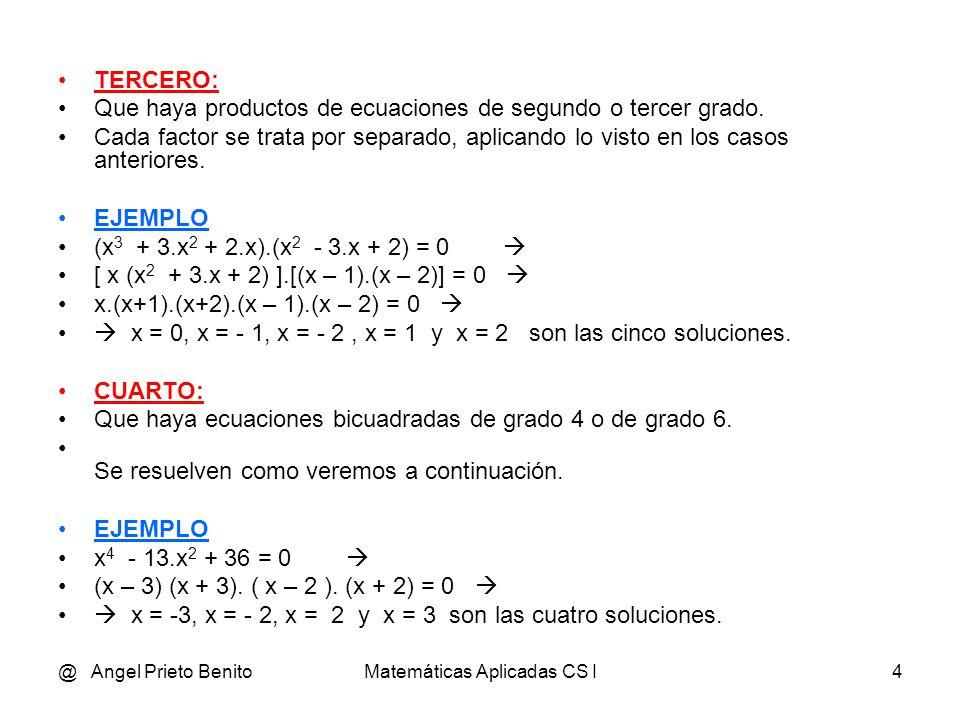 Matem ticas aplicadas cs i ppt video online descargar for Ecuaciones de cuarto grado