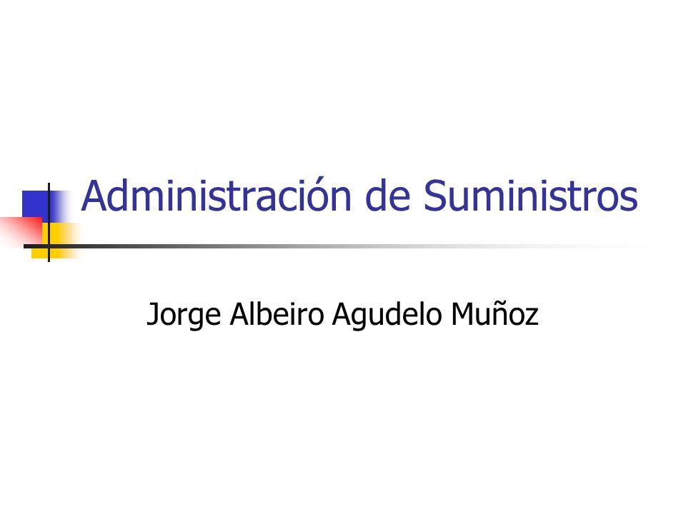 Administración de Suministros