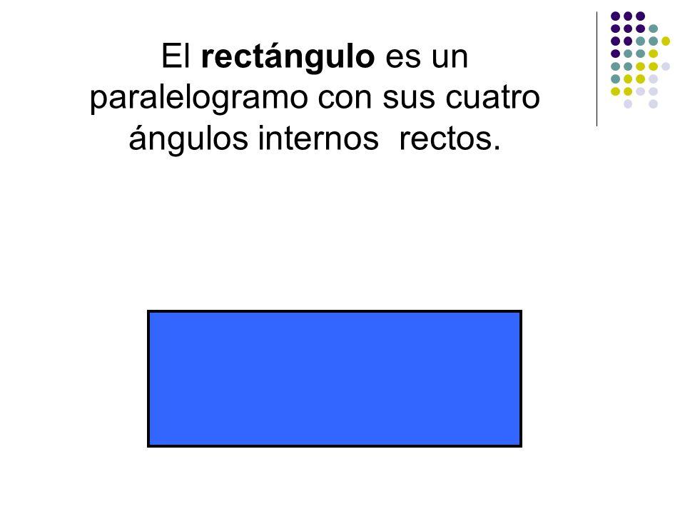El rectángulo es un paralelogramo con sus cuatro ángulos internos rectos.
