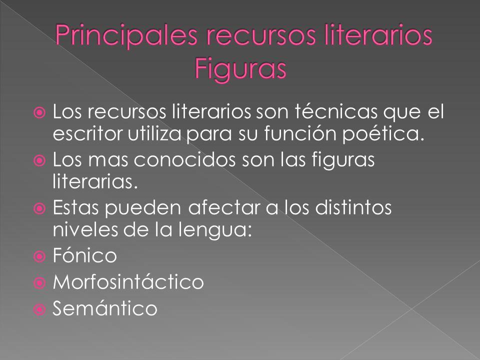 Principales recursos literarios Figuras