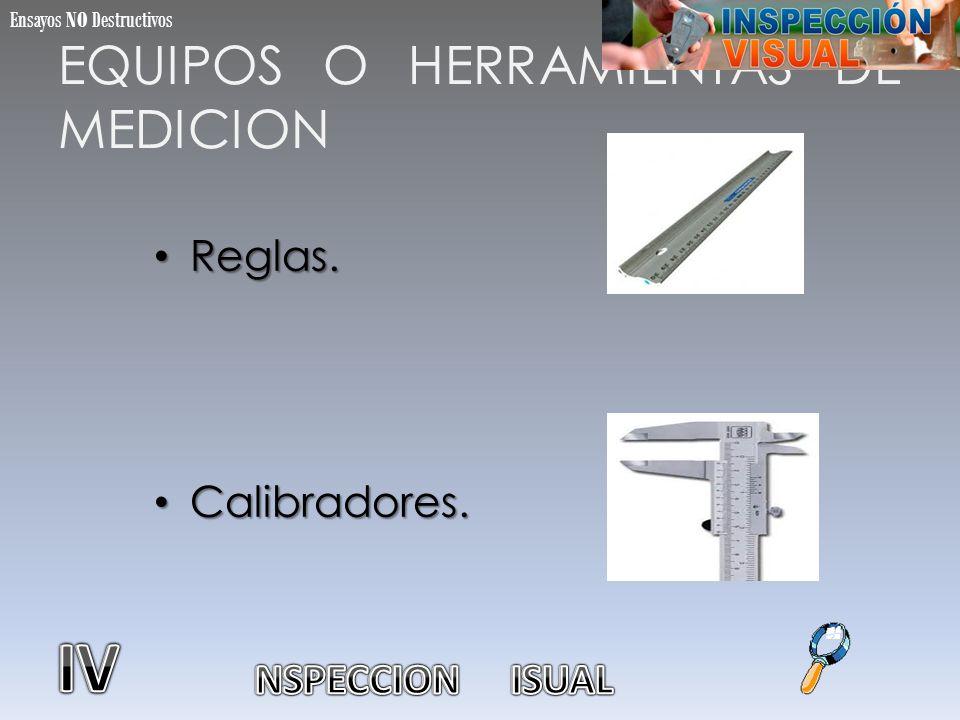 EQUIPOS O HERRAMIENTAS DE MEDICION