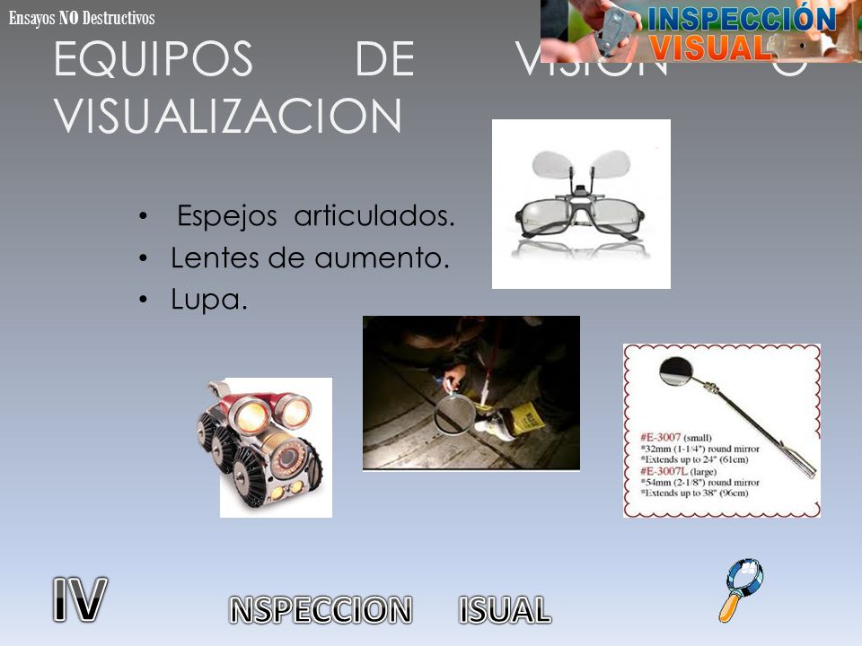 EQUIPOS DE VISION O VISUALIZACION