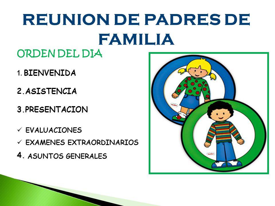 REUNION DE PADRES DE FAMILIA