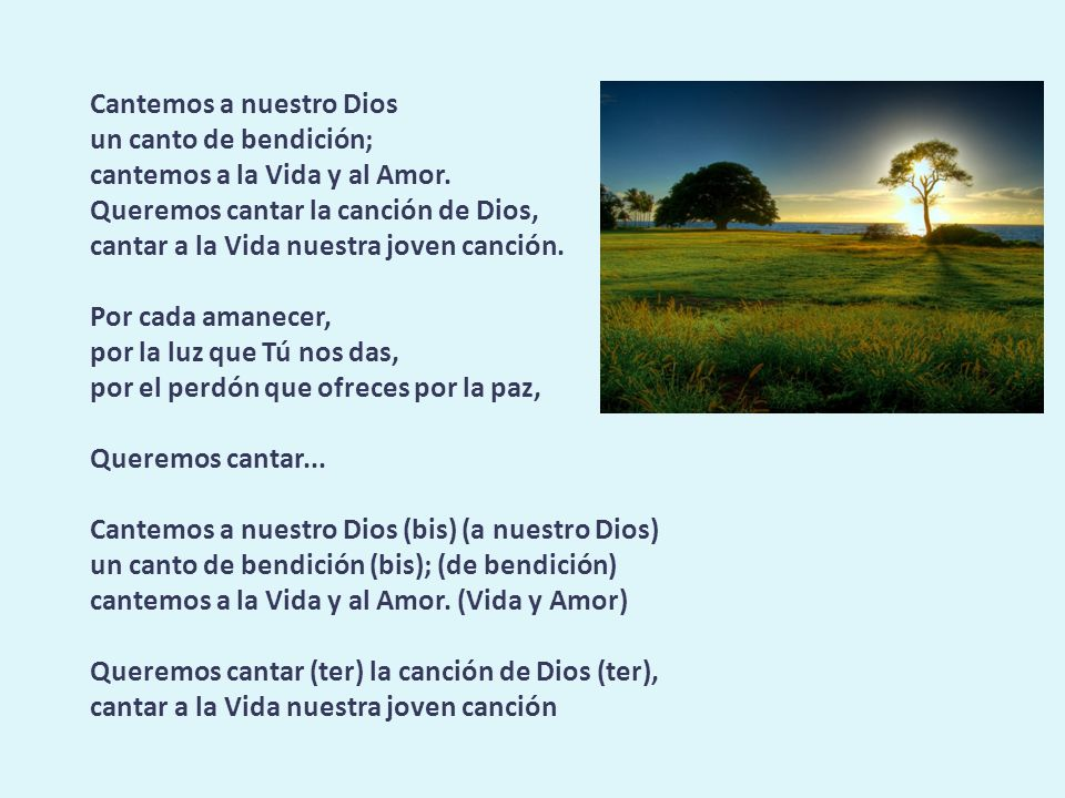 Cantemos a nuestro Dios