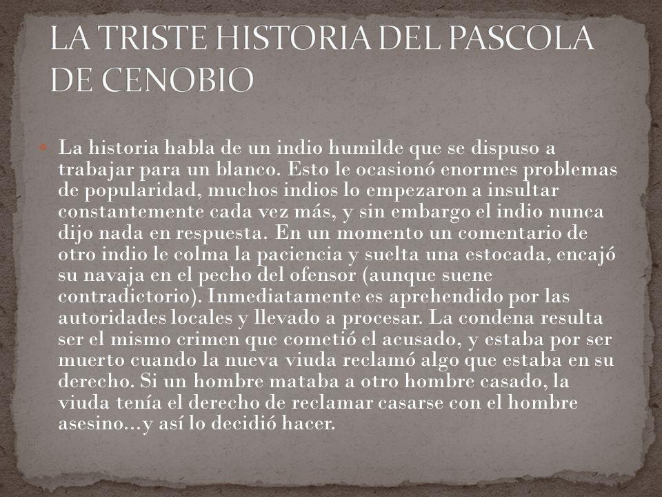 LA TRISTE HISTORIA DEL PASCOLA DE CENOBIO