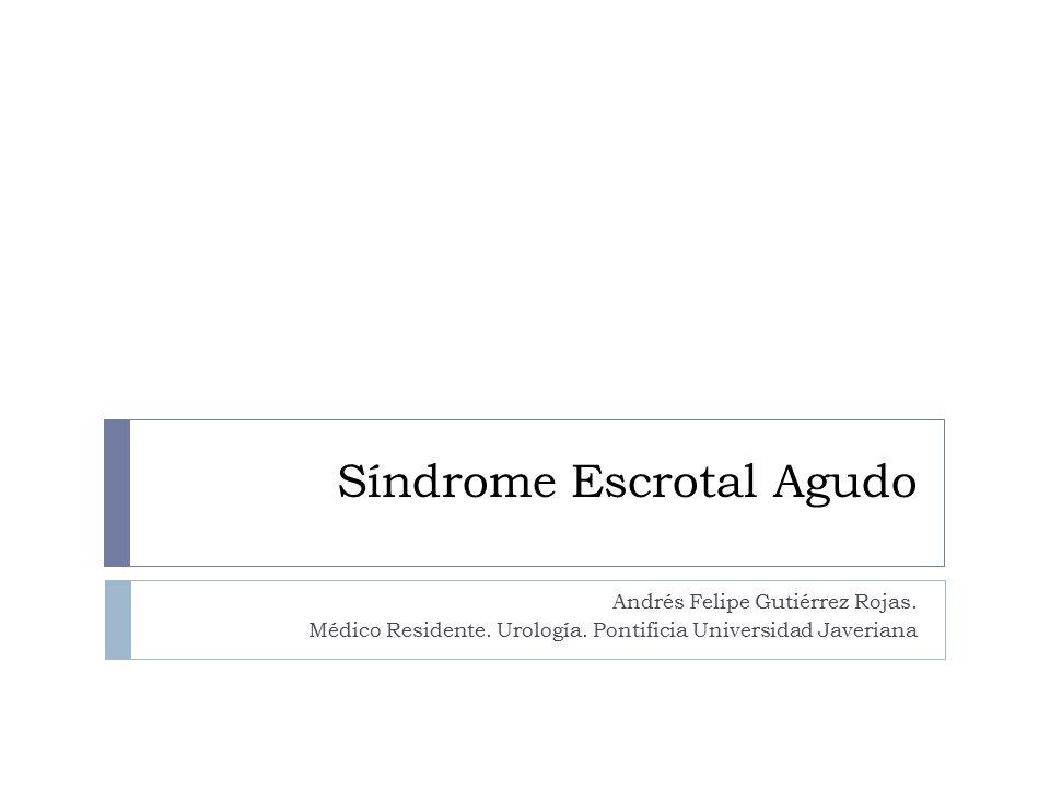 Síndrome Escrotal Agudo