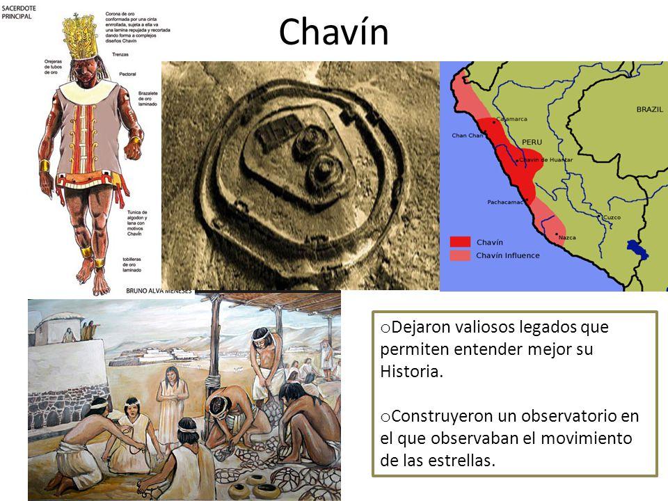 Chavín Dejaron valiosos legados que permiten entender mejor su Historia.